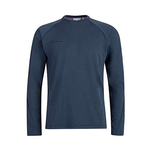 Mammut Aegility Longsleeve Tee-Shirt à Manches Longues Homme Marine Mélange FR: L (Taille Fabricant: L)