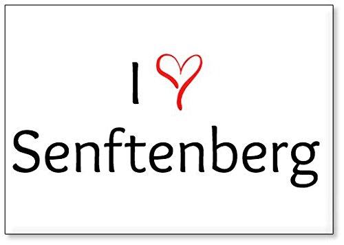 M&us Souvenirs - Ich Liebe Senftenberg, Kühlschrankmagnet (Design 3)