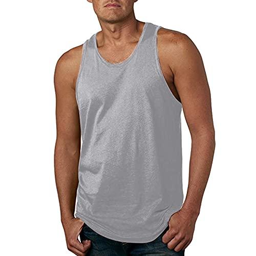 Muskelshirts Herren Tank Top Slim Fit Einfarbig Basic Sport Weste ärmelloses T Shirt Trägershirt Dunktionsshirt Laufshirt Sportshirt Achselshirt Tanktop