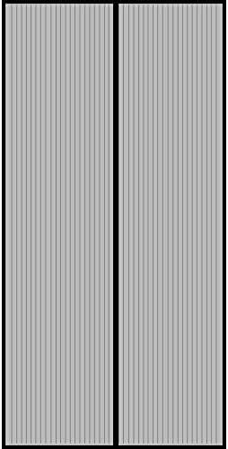 GIMARS Fliegengitter Tür Insektenschutz 80x200 cm / 100x220 cm / 110x220 cm Magnet Vorhang Fliegenvorhang Moskitonetz für Balkontür Wohnzimmer Terrassentür, Klebmontage ohne Bohren(Schwarz)