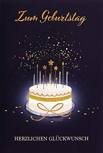 Verjaardagskaart Lifestyle - taart - 11,6 x 16,6 cm