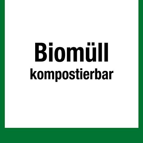 Wertstoffkennzeichen - Biomüll kompostierbar - Folie Selbstklebend - 25 x 25 cm