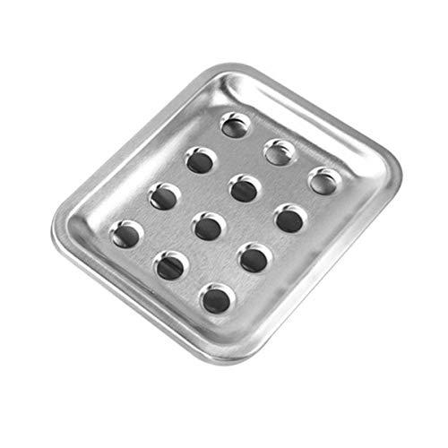 Djryj H02 zeepbakje van roestvrij staal met gaten voor zeep, zeepbakje, opbergruimte voor douche, badkamer en gootsteen