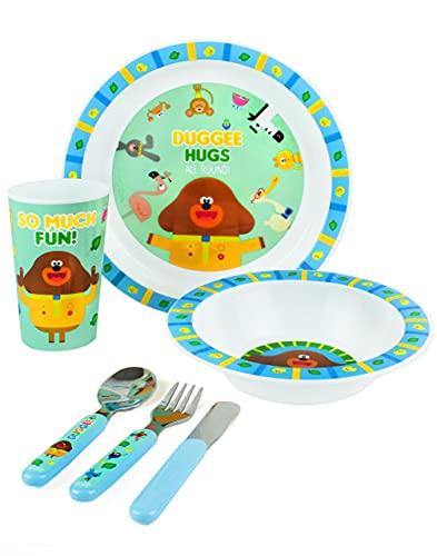 Oye Dugee Cena Set Niños Vajilla Reutilizable PP Cutlery Plate Bowl TAP