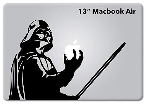 Star Wars Darth Vader v1 for Macbook laptop Die-cut Vinyl decal sticker (Air 13', Gloss Black)