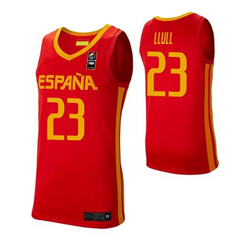 K&A Camiseta Sergio Llull Selección Española de Baloncesto Rojo 2019 para Hombre & Niño (Rojo, Hombre XXL)