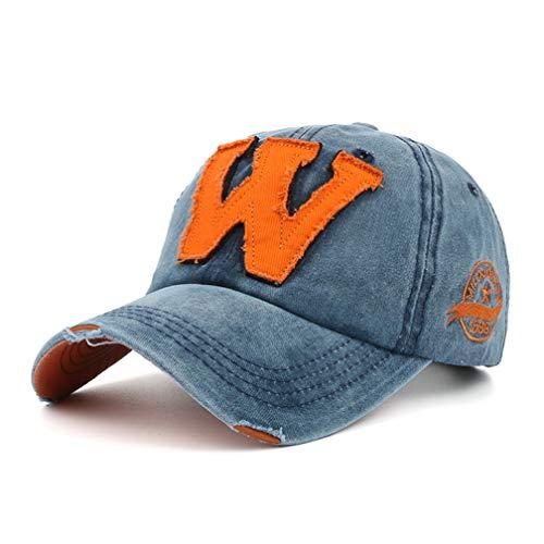 Baseball Cap Basecap, Unisex Baseball Kappen Baseball Mützen für Draussen, Sport oder auf Reisen, Mütze (Blau)