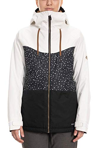686 Women's Athena Insulated Jacket - Waterproof Ski/Snowboard Winter Coat, White Camo Colorblock, X-Large