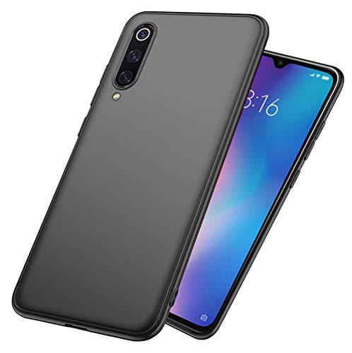 LAYJOY Funda Xiaomi Mi 9 SE, Ligera Carcasa Silicona Suave TPU Gel Bumper Case de Protectora [Antideslizante] [Anti-Golpes] Cover Caso para Xiaomi Mi 9 SE (2019) 5,97 Pulgadas -Negro