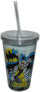Batman Acrylic Tumbler Cup with Straw