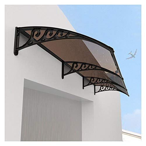 Door Canopy Roofing Awning Anti-UV Windproof Porch Canopy, Outdoor Garden Window Porch, Polycarbonate 2 Panels, Customizable-80x240cm