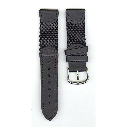 Victorinox Swiss Army Brand 19mm-Nylon/Leather-Black