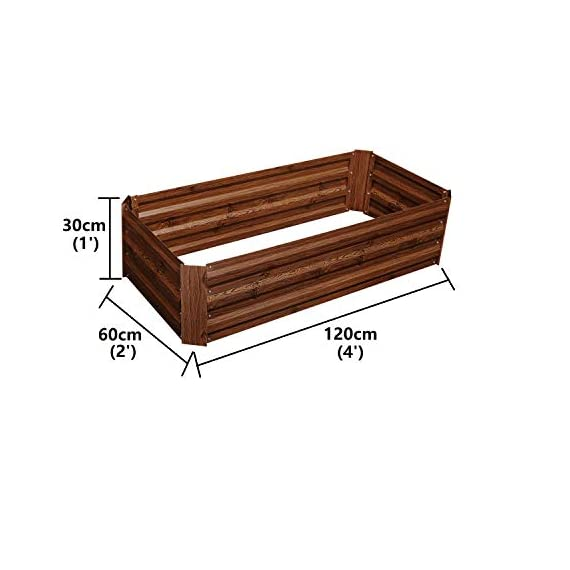 """Outdoor 2x2 ft metal raised garden bed patio frame planters box for vegetables/flower/ 3 size:47. 24""""(l)x47. 24""""(w)x11. 81""""(h) easy to assemble the garden bed with anti-rust coating is made of galvanized steel last long time"""