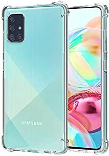 Clear Case with Screen Protector for Samsung Galaxy A71 4G / 5G (Clear)