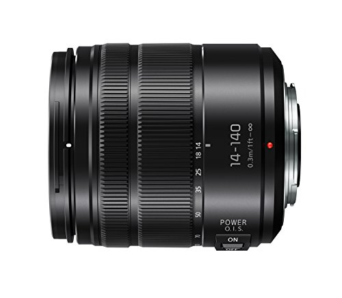 Panasonic H-FS14140EKA LUMIX G Vario Super Zoom 14-140 mm F3.5-5.6 ASPH. Objektiv (28-280 mm KB, Power O.I.S. Bildstabiliator) schwarz
