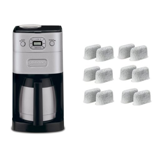 Cuisinart DGB-650BC Grind-and-Brew Thermal 10-Cup Automatic Coffeemaker, Brushed Metal and Everyday 12-Pack Replacement Charcoal Water Filters for Cuisinart Coffee Machines Bundle