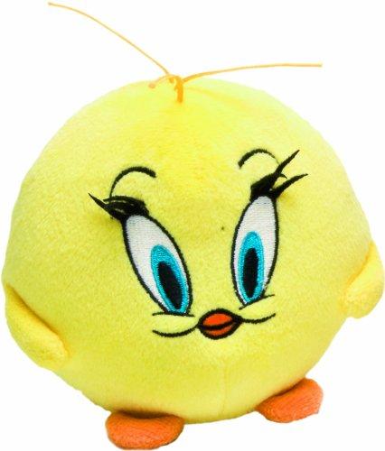 LOONEY TUNES 233095 - Tweety Plüsch Ball mit Beanies, 10 cm