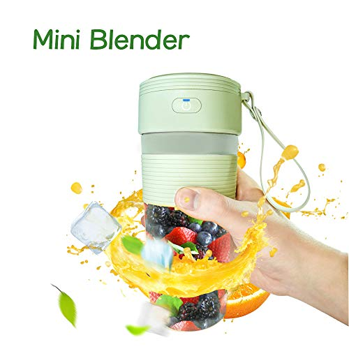 Portable Blender,Youmeet USB Rechargeable Blender,Compact 380ml Mini blender,Quick Portable Juicer with big opening for Daily Healthy Shakes Smoothies Fruits Veggies Ice Drink Work Sports Travel