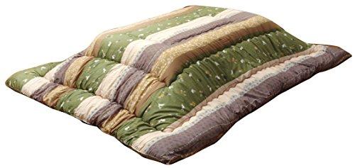 イケヒコ こたつ布団 長方形 こよみ 約205×315cm グリーン 和 厚掛け 特大判 日本製 うさぎ柄 #5965069