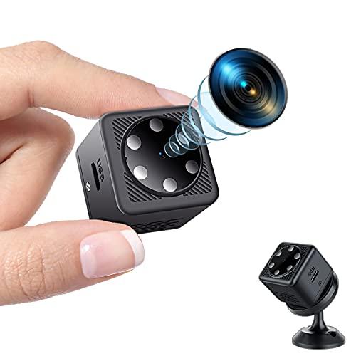 Mini Cámara Espía Oculta, Cámara Espía HD 1080P Inalámbrica Visión Nocturna y Grabación en Bucle Micro Video Cámara Espía Vigilancia Doméstica Camaras de Seguridad Interior/Exterior(No WiFi)