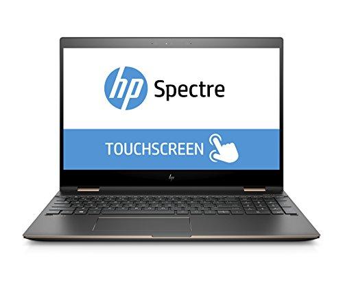 HP Spectre x360 15-ch009ng 39,62 cm (15,6 Zoll 4K Touchdisplay) Notebook (Intel Core i7-8705G, 16GB RAM, 512 GB SSD, Radeon RX Vega M 4GB, Windows 10 Home) dark ash silver