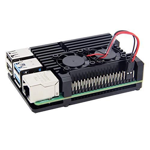 Raspberry Pi 4 modello B Dissipatore di Calore Caso/Caso In Lega di Alluminio di Raffreddamento Passivo con doppia ventola di raffreddamento per Raspberry Pi 4B Solo