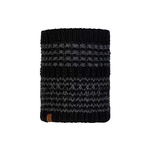 Buff Kostik Cache-Cou tricoté Polaire Mixte Adulte, Noir, FR Unique Fabricant : Taille One sizeque