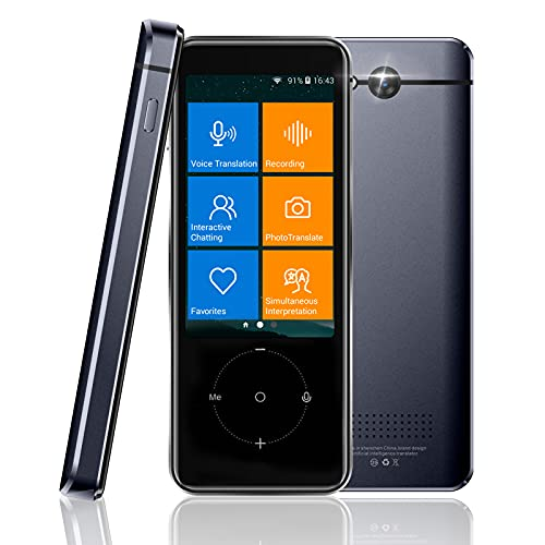 Languages Translator Device, Portable 107 Languages Two-Way Instant Translator Device, WiFi Connection, Voice & Text & Photo Translation, Offline Translator with 3.0 HD Screen, 60 Mins Audio Memo