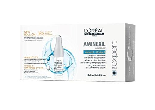 L´Oréal Aminexil Advanced, Tratamiento contra la Caída del Cabello, 10 x 6 ml