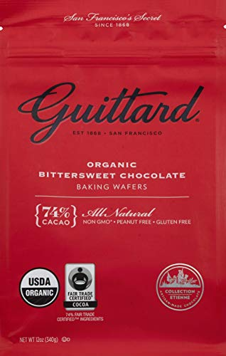 GUITTARD Organic 74% Chocolate Baking Wafers, 12 OZ