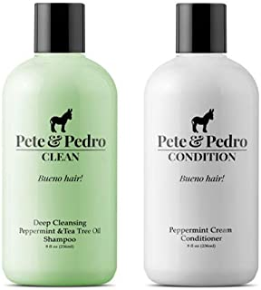Pete and Pedro Clean Condition Combo Pack    Tea Tree Oil Shampoo and Peppermint Cream Conditioner