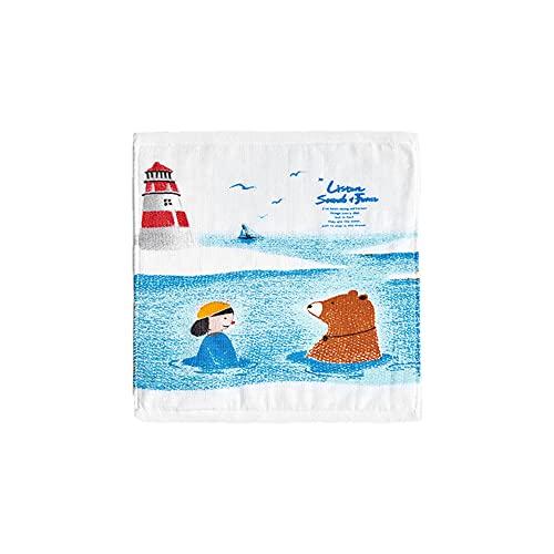 YJKL Toalla de microfibra, bufanda cuadrada impresa de algodón lindo estilo 12 puro algodón 34 34 cm cara bebé comodidad suave para el hogar niñas bebé