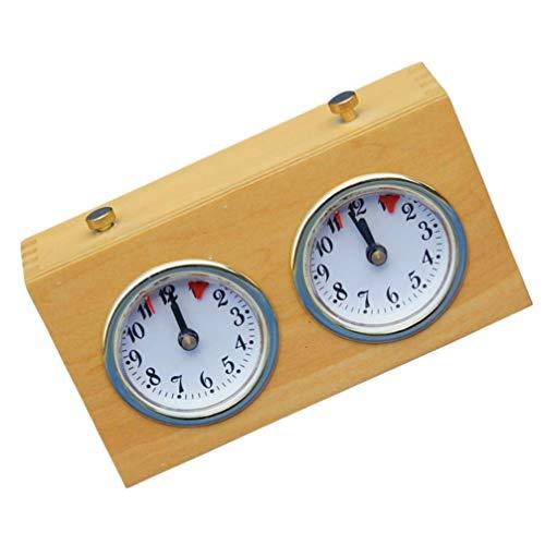NUOBESTY Reloj Mecánico de Ajedrez Temporizador de Juego de Ajedrez Retro Reloj Analógico Temporizador de Ajedrez I-Go Cuenta Atrás Temporizador para Casa