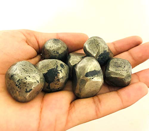 crystalmiracle Pirita dorada natural Piedra de una sola caída Piedra preciosa pulida Piedra de bolsillo Cristal Regalo curativo Meditación Energía Bienestar Hecho a mano