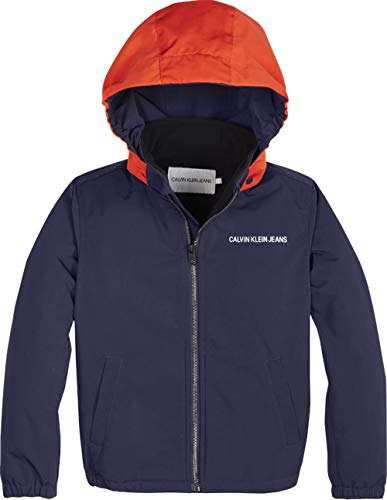 Calvin Klein Jeans Jungen Übergangsjacke Reversible Hood Light Jacket blau12 (152)