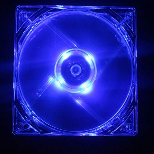 WT-YOGUET 1 ventilador de refrigeración para PC de 8 cm, doble apertura, multicolor, silencioso, LED, 12 V