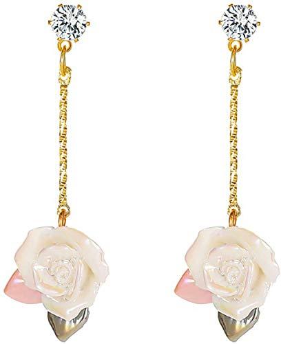 OUHUI Oreja de Rosa Retro Pendientes de la Oreja de la Oreja de la Oreja, la Moda Elegante Pendientes Del Oído Sígono para Las Mujeres Banquete/Boda/Compromiso/Accesorio de Re