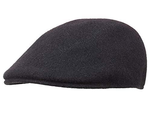 Kangol Homme Casquette plate Seamless Wool 507 noir