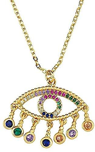 Yiffshunl Collar Collar Griego de Oro Cadena de Oro Collar con Colgante de corazón con Encanto Collar con Colgante Griego Regalo para Mujeres Hombres Niñas Niños
