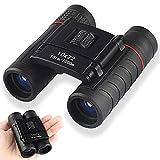 Binoculares para Adultos y niños, DELT 10X22 Mini Juguetes binoculares de Aumento liviano Telescopio Plegable a Prueba de Golpes para exploración al Aire Libre, Viajes y Juegos Deportivos