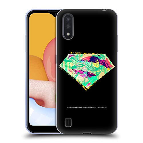 Head Case Designs Officially Licensed Justice League DC Comics Superman Dark Electric Pop Icons Soft Gel Case Compatible with Samsung Galaxy A01 (2020)