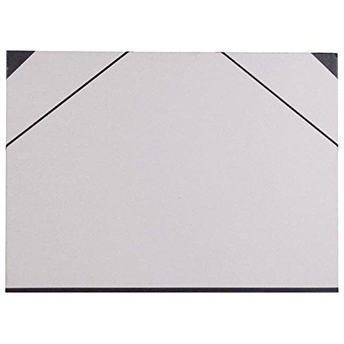 Clairefontaine 44620C Zeichenmappe (Gummizug, Rücken 30 mm, innen: 50 x 70 cm, außen: 52 x 72 cm, ideal zur Aufbewahrung Ihrer Werke) betongrau