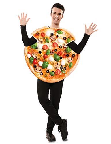 Generique - Leckeres Pizzakostüm für Erwachsene Karnevals-Verkleidung bunt Einheitsgröße (M/L)