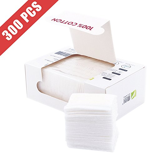 Healon Cotton Squares 100% Natural Cleansing Pads Soft Cotton Wipes 300pcs
