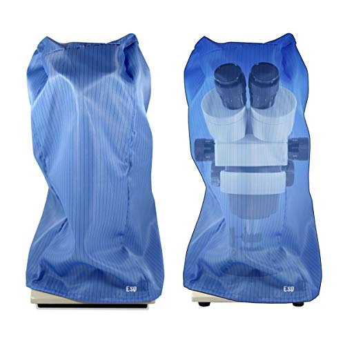 ESD Safe Microscope Dust Cover, Blue Cotton Fabric, BoliOptics MA02024102