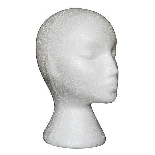 Froomer Modellkopf, weiblich, aus Schaumstoff, Styroporkopf, Brillenst?nder (wei?, 1 St¨¹ck)