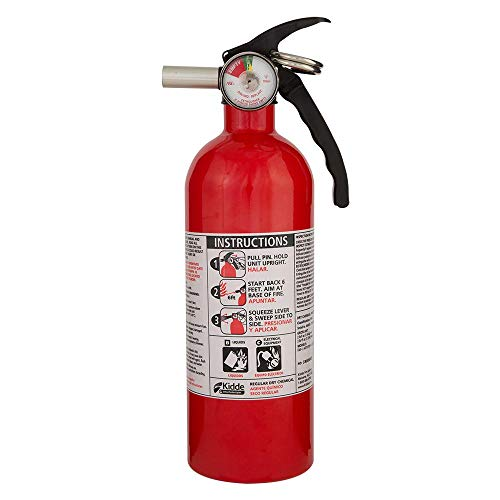 Kidde Ex 21027413MTL, Standard Home Fire Extinguisher Red 5-B:C, Plain
