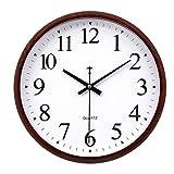 ZHZLX-wall clock Moderne Heimat Wanduhr Kreative Quarzuhr EuropäIsche Wanduhr - American Style - Leicht Zu Lesen - Einfache Dekorative Wohnzimmer Schlafzimmer BüRo - Pool (30x30 cm)