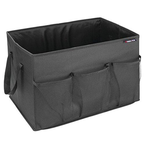 Swiss+Tech ST80100EU Zusammenfaltbare Aufbewahrungstasche für den Kofferraum für Einkäufe, Werkzeuge, Sportschuhe, Accessoires - Schwarz