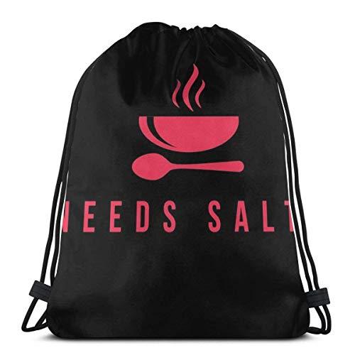 Necesita salero cocinero de cocina gourmet con cordón bolsa deportiva bolsa de viaje bolsa de regalo
